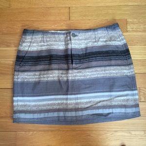 Multi colored striped skirt